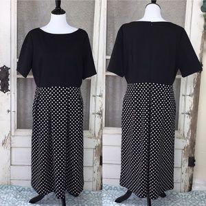 Black & White Polka Dot Fit & Flare Dress 20  (E6)